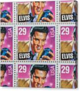 Elvis Commemorative Stamp January 8th 1993 Painted  Canvas Print