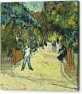 Entrance To The Public Gardens In Arle Canvas Print