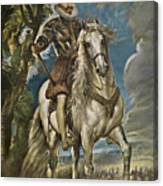 Equestrian Portrait Of The Duke Of Lerma Canvas Print