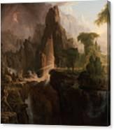 Expulsion From The Garden Of Eden  Canvas Print