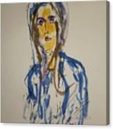 Female Face Study  C Canvas Print