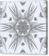 Fern Frost Mandala Canvas Print