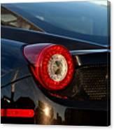 Ferrari Tail Light Canvas Print