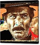 Film Homage Lee Van Cleef Spaghetti Westerns Publicity Photo Collage 1966-2008 Canvas Print