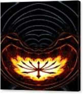 Fire Polar Coordinates Effect Canvas Print