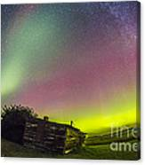 Fish-eye Lens View Of The Northern Canvas Print