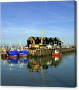Fishing Boats At Whitstable Harbour 03 Canvas Print