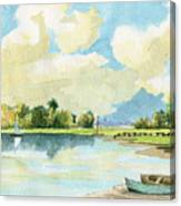Fishing Lake Canvas Print