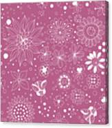 Floral Doodles Canvas Print
