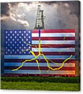 Fracking In The U.s Canvas Print