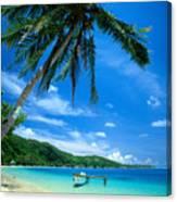 French Polynesia, Huahine Canvas Print