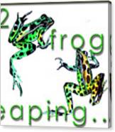 2 Frogs Leaping Canvas Print