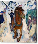 Galloping Horse Canvas Print