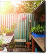 Garden Potting Table Canvas Print