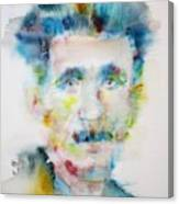 George Orwell - Watercolor Portrait Canvas Print
