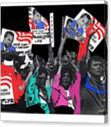George Wallace For President Supporters Democratic Nat'l Convention Miami Beach Florida 1972-2013 Canvas Print