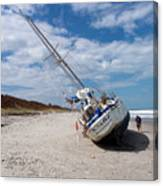Ghost Ship Beached By Hurricane Irma Canvas Print