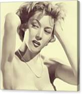 Gloria Grahame, Vintage Actress Canvas Print