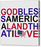 God Bless America Canvas Print