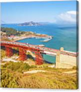Golden Gate Bridge Vista Point Canvas Print