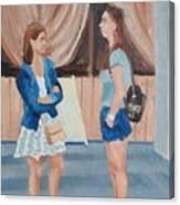 2 Gossip Girls Canvas Print