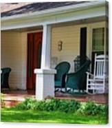 Grand Old House Porch Canvas Print