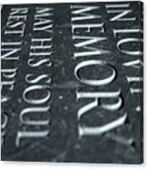 Gravestone In Loving Memory Canvas Print