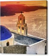 Greek Island - Santorini Canvas Print