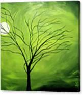 Green Night I Canvas Print