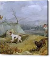 Grouse Shooting Henry Thomas Alken Canvas Print