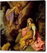 Hagar And The Angel Canvas Print