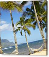 Hanalei Bay, Hammock Canvas Print