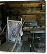 Historic Log Trappers Cabin Canvas Print