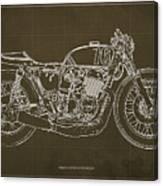 Honda cb750 cafe racer blueprint drawing by pablo franchi honda cb750 cafe racer blueprint canvas print malvernweather Images