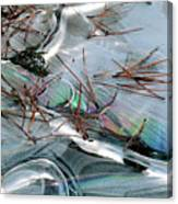 2. Ice Prismatics 1, Slaley Sand Quarry Canvas Print