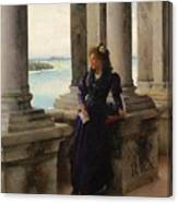 In The Belfry Of The Campanile Of St Marks Venice Henry Woods Canvas Print