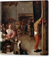 Interior Of A Tavern Canvas Print