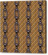 Iron Chains With Wood Seamless Texture Canvas Print