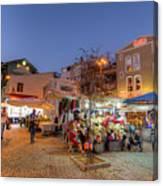 Istanbul At Night Canvas Print