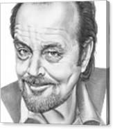 Jack Nickolson  Canvas Print