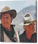 Jack Palance And Lee Marvin Monte Walsh Set Old Tucson Arizona 1969 Canvas Print