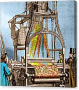 Jacquard Loom For Weaving Textiles Canvas Print