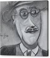 James Joyce Canvas Print