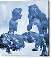 Jane And Tarzan-blue Canvas Print