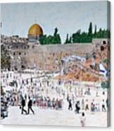 Jerusalem Day Canvas Print