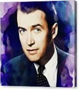 Jimmy Stewart, Vintage Movie Star Canvas Print