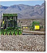 John Deere Cotton Pickers Harvesting Canvas Print