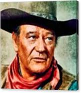 John Wayne, Hollywood Legend By John Springfield Canvas Print
