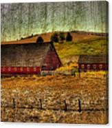 Johnson Road Barns Canvas Print