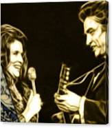 June Carter And Johnny Cash Collection Canvas Print
